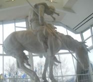 End of Trail statue in Museum