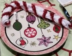 christmas plate deco idea