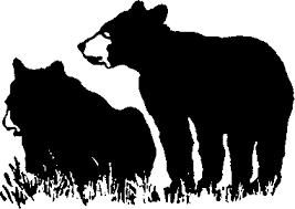 clipart black bears