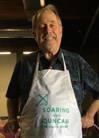 David Hoff in apron