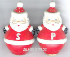 Duncan 0958 roly poly Santa salt & pepper