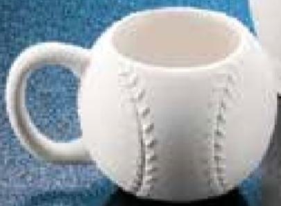 Duncan bisque baseball cup