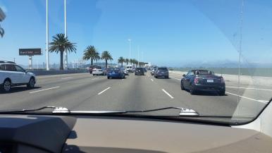 five lanes on the bridge