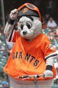 Giants mascot Lou Seal