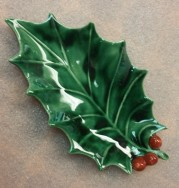 Holland 0578 Holly Leaf dish CC