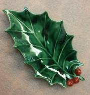 Holland 0578 Holly Leaf dish CC