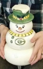 snowman snack stack Green Bay