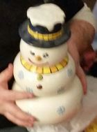 snowman snack stack