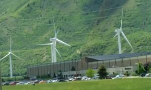wind turbines up close