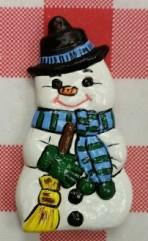 Alberta Ornaments 0054 Snowman CC