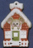 Alberta Ornaments 0060 mouse in house