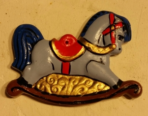 Alberta Ornaments 0065 rocking horse CC