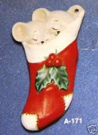 Alberta Ornaments 0171 sleeping mice in stocking