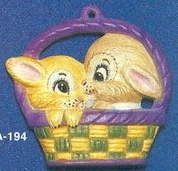Alberta Ornaments 0194 two bunnies in basket