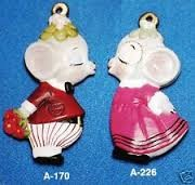 Alberta Ornaments 0226 Kissing Girl Mouse