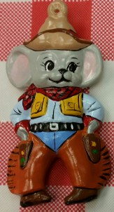 Alberta Ornaments 0238 cowboy mouse CC