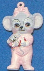 Alberta Ornaments 0250 girl mouse in sleepers