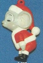 Alberta Ornaments 0257 Kissing Santa Mouse
