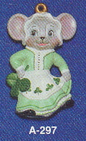 Alberta Ornaments 0297 Shamrock girl mouse
