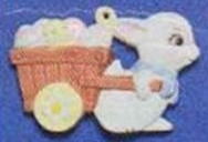 Alberta Ornaments 0314 bunny with egg cart