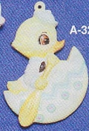 Alberta Ornaments 0321 duck in egg boat