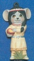 Alberta Ornaments 0327 Indian Girl Mouse