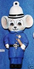Alberta Ornaments 0329 policeman mouse