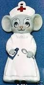 Alberta Ornaments 0331 nurse mouse