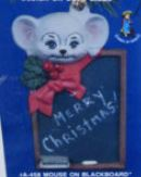 Alberta Ornaments 0458 mouse on blackboard