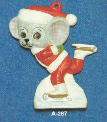 Alberta Ornaments 287 mouse on skates