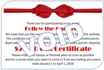 Gift Certificate Follow the Carousel VOID