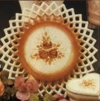 1134 ornate plate or plaque (pic is Duncan)