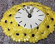Atlantic 0678 daisy clock yellow