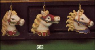 Clay Magic 0662 carousel horsehead ornaments