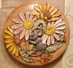 Doc Holliday (Kinzie) K1R Mouse Hiding in Flowers Lid Stepping Stone (Deana)