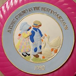 Fantasy 0342 Kids with Ducks plate (CC)