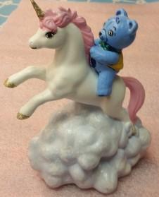 Garrand 0842 Unicorn with Teddy Bear Rider