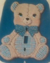 Kimple 1091 stuffed (soft) teddy switch plate cover