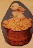 kimple 674 bunny top for bushel basket