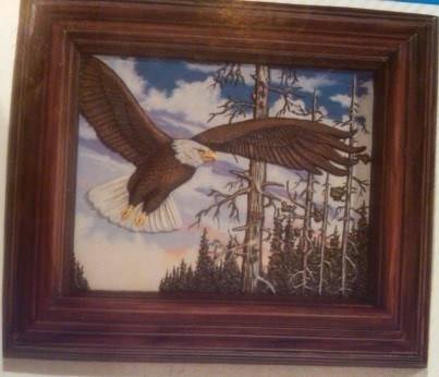 Kinzie 0001 Framed Eagle Picture