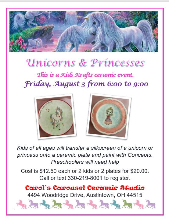 KK Unicorns & Princesses 8-3-18