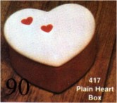 Scioto 0417 small plain heart box