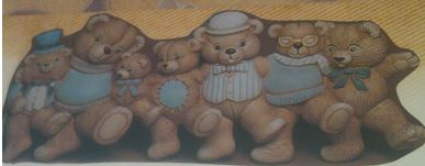Scioto 0935 Bear Chorus Line wall plaque (coat rack)