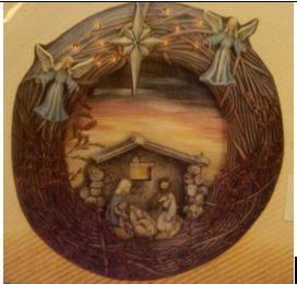 Scioto 1375 Country Wreath Nativity