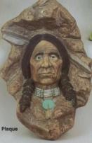 SITTRE 336 Indian warrior plaque