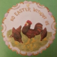 WEAVER 112 EMBOSSED EASTER PLATE