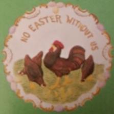 WEAVER 112 EMBOSSED EASTER PLATE
