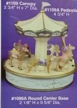 Alberta 1109 Ornament Carousel Canopy & Pedestal