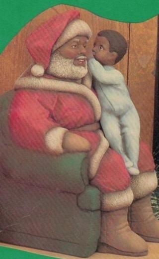 Clay Magic 1233 & 1234 Af Am Santa with girl