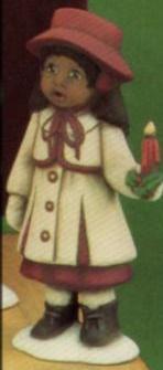 Clay Magic 1274 small AfAm girl caroler